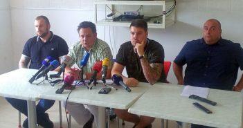 Konferencija za novinare u prostorijama KNH Torcida Split
