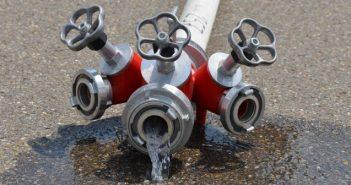 cijevi, požar, voda, vatrogasci