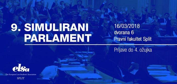 Sjednica Simuliranog parlamenta održat će se 16. ožujka na Pravnom fakultetu u Splitu.