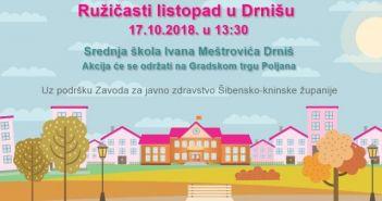 ružičasti listopad u Drnišu