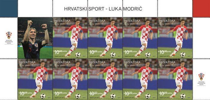 Najbolji nogometaš svijeta Luka Modrić na poštanskoj markici