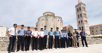 Zadar, 15.07.2019 - Predstavljeni policajci iz Madjarske i Kine koji ce ovo ljeto u raditi u Zadru