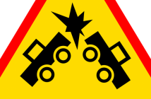 prometna nesreća, znak, sudar