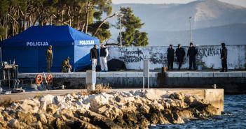 Sibenik, 27.01.2020 - Intenzivna potraga za nestalim pilotom nakon pada helikoptera