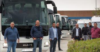 Split, 14.04.2020 - Prosvjed predstavnika prijevoznika zbog lose situacije