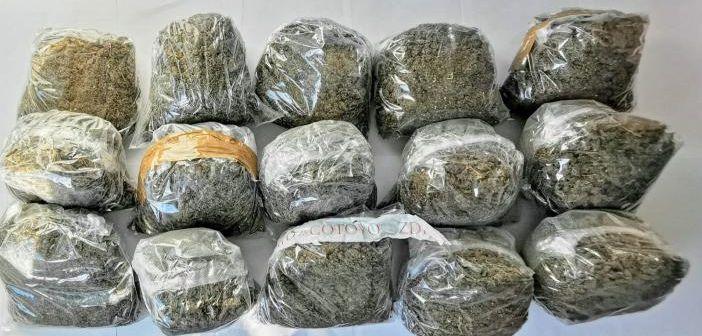 Dugopolje: U autobusu pronađeno 16 kg marihuane